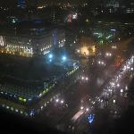 view from room 2104 at night