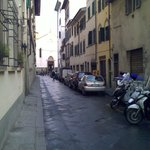 The street outside the hotel.