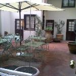 The little inner courtyard.