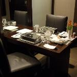 Our in-suite meal all setup.