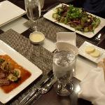 Our in-suite meal ready to eat! Very good food at good prices!