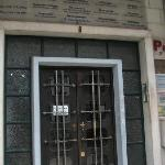 """The entrance at the """"Pensao"""" with all the medical cabinets."""
