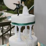 Our Cake (with our own topper)
