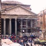 View from 1st floor bedroom - Pantheon and Square