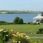 The Inn's beautiful view & garden