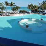 Una hermosa piscina pero con el agua helada, como veran nadie se baña en ella mucho frio hace en