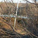 Falls park suspension bridge