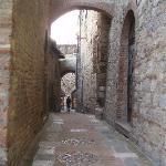 The streets of San Gimignano