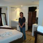 Manager, Ting, in deluxe room