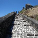Steps up to the fortress