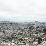 The view of San Fran from the top of Twin Peaks