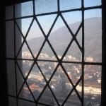 Window looking northward over the town.