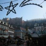 Destination: Heidelberg Schloss, up there on the hill.