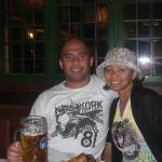 celebrating our 12th year anniversary with German beer and pork knucke..how romantic..hahaha
