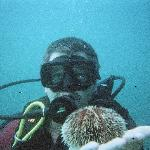 My hubby on his first dive