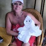 towel art done by LIZ BETH