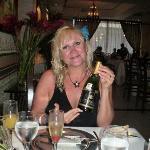 surprise champayne at Le Gourmet