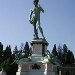 ミケランジェロ広場のダヴィデ像