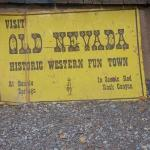 The sign for Old Nevada