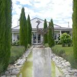 Herzog Winery formal garden sculpture
