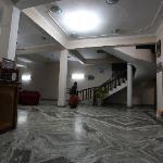 The lobby at Hotel Opera in Mahedranagar in Nepal