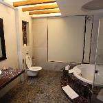 A luxurious bathroom in the suite of Hotel Iora, The Retreat at Kaziranga National Park, Assam,