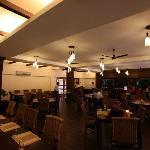 The restaurant at Hotel Iora, The Retreat at Kaziranga National Park, Assam, India
