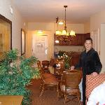 Kitchen, Dining Room (We were getting ready to go out and It was cold outside for those Florida