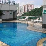 The great rooftop pool - a head for heights is needed