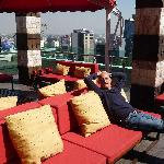 Relaxing Outdoors at  Executive Lounge on Top Floor