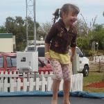Circus school trampoline time