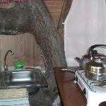 Una piccola cucina in camera