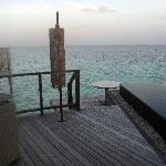 Veranda of the water villa