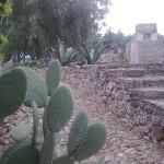 Mexico Templo en lo alto de la Piramide de Acatitlan