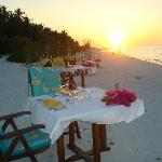 Dinner on the beach, what more could you want