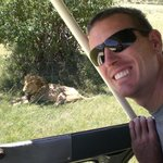 Getting close to a lion
