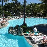 part of one of the pools on the resort