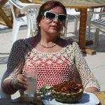 Almorzando un delicioso rissoto Thai...con mariscos...