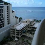 """View from our """"ocean view"""" room balcony"""