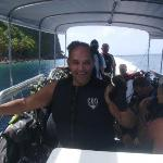 JOSE'  LUNA  GETTING  READY  TO  DIVE  AT  ST.  LUCIA.  NOV.  2009.