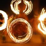 Fire twirling! It was really cool!!!