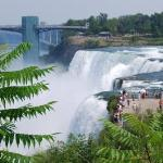 Look at how little those people look against the falls!