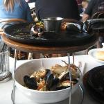 Seafood on pier 39... well we were so excited we just tucked right in and the photo was more of