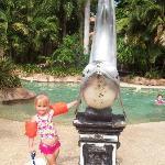 My daughter at the pool