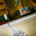 Tatami matta inne i vårt rum på Honkan