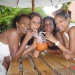 Grand Baie, Mauritius We were having a sex on the beach..drink