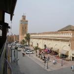 Bilde fra Koutoubia moské og minaret