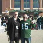 Neil Reynolds of SKY tv and BBC fame interviewing yours truly for the BBC at Lambeau Field pre D
