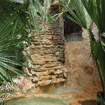Waterfall at villa