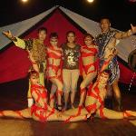 Photo op with the Mongolian acrobats